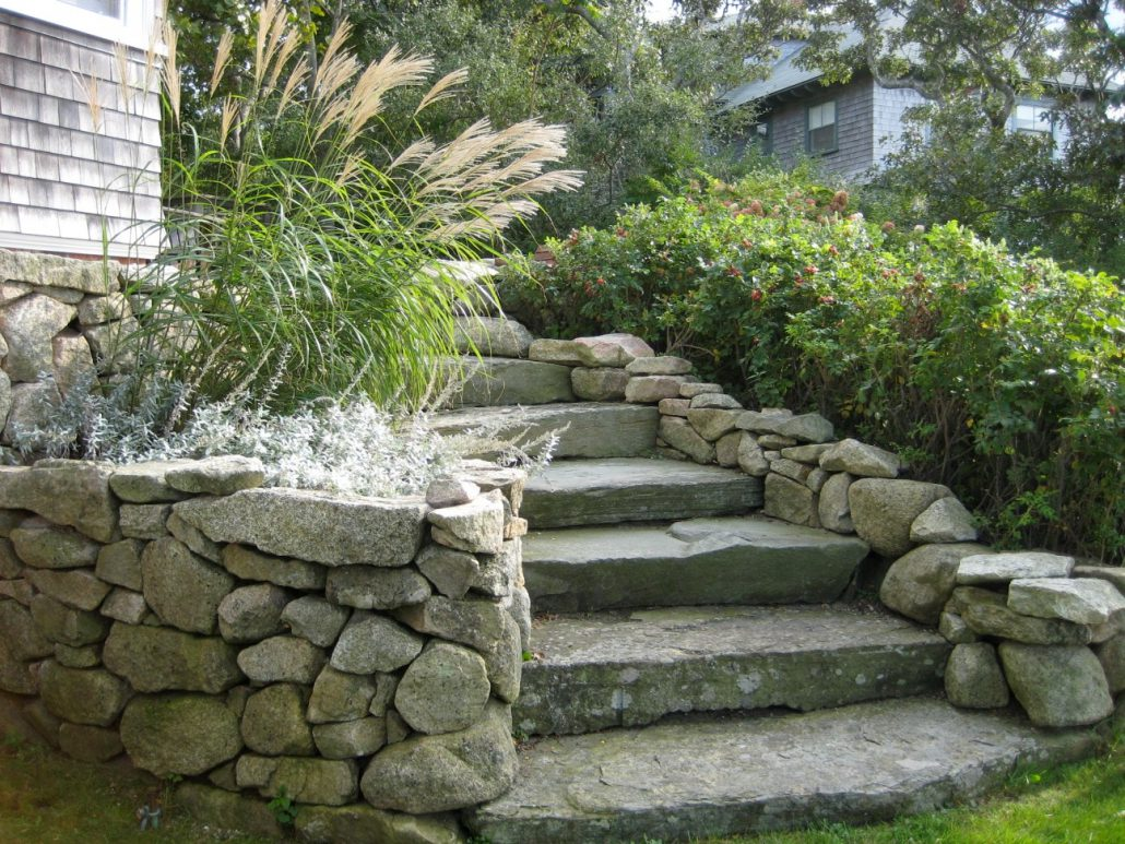 Rock Garden Ideas For Backyard Gray Rock Pathway